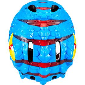 Crazy Safety Drache Helmet Barn blue